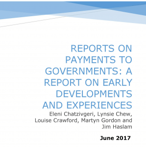 Raising Global Standards of Transparency in the Extractives Sector