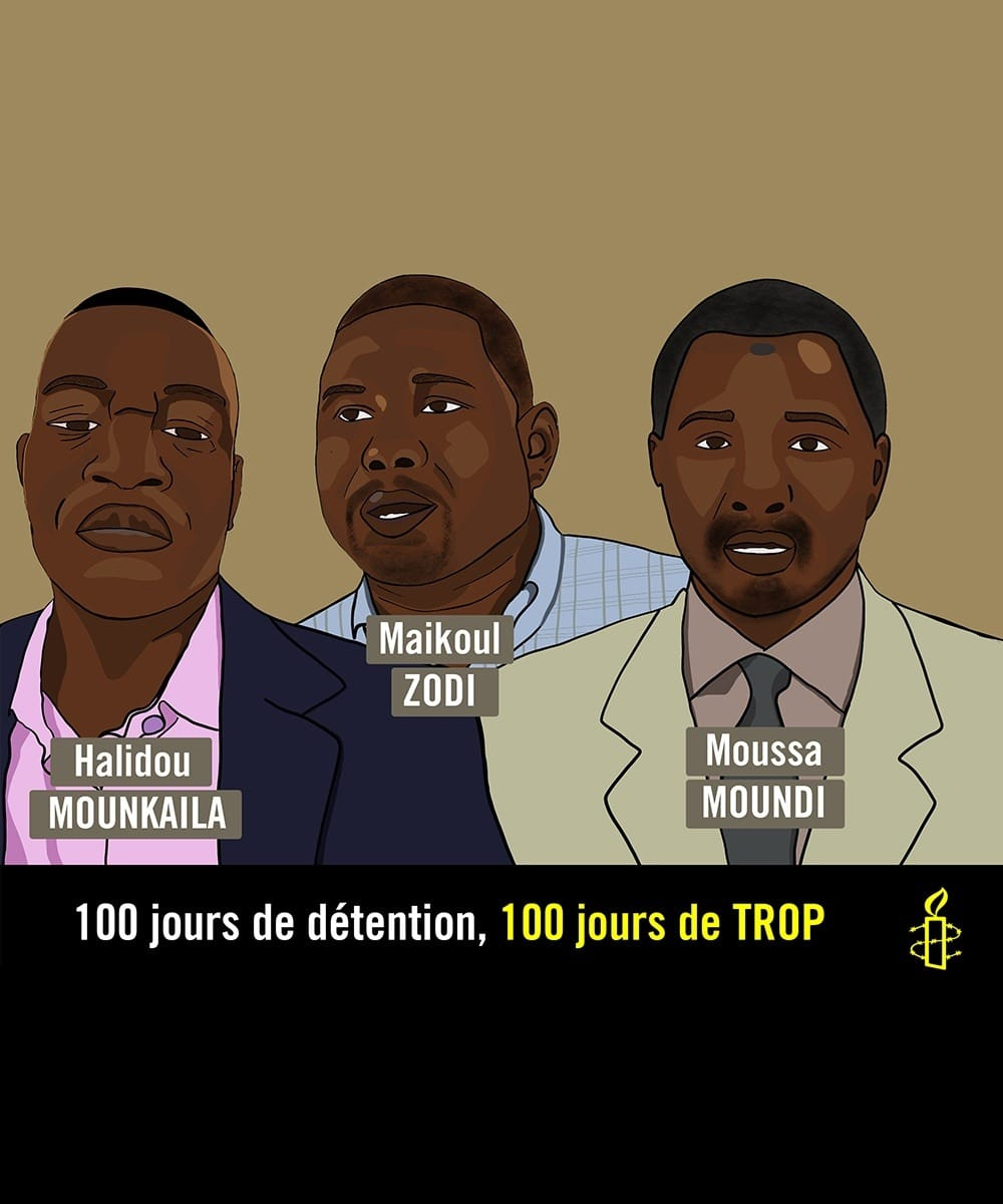 Niger: 100-day detention of three activists highlights deterioration of freedom of expression