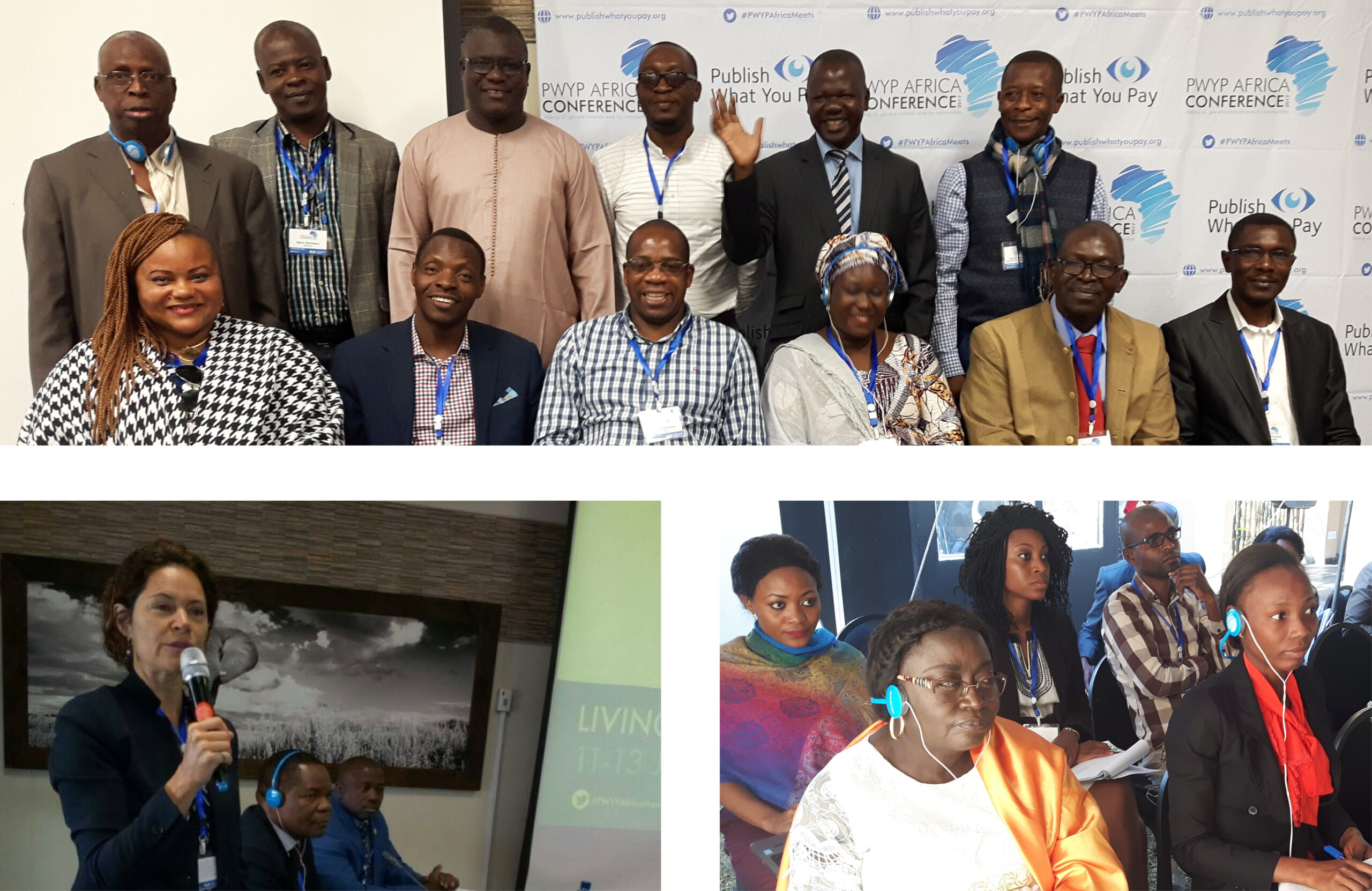 pictures of attendees at the PWYP Africa Conference